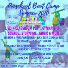 2020 Summer Preschool Boot Camps